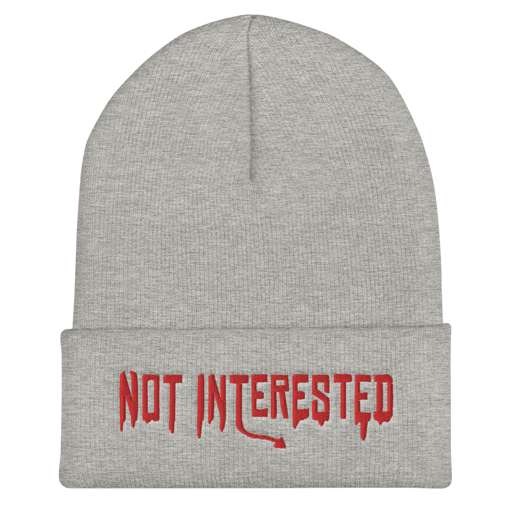 """Featured image for """"Not Interested - Cuffed Beanie"""""""