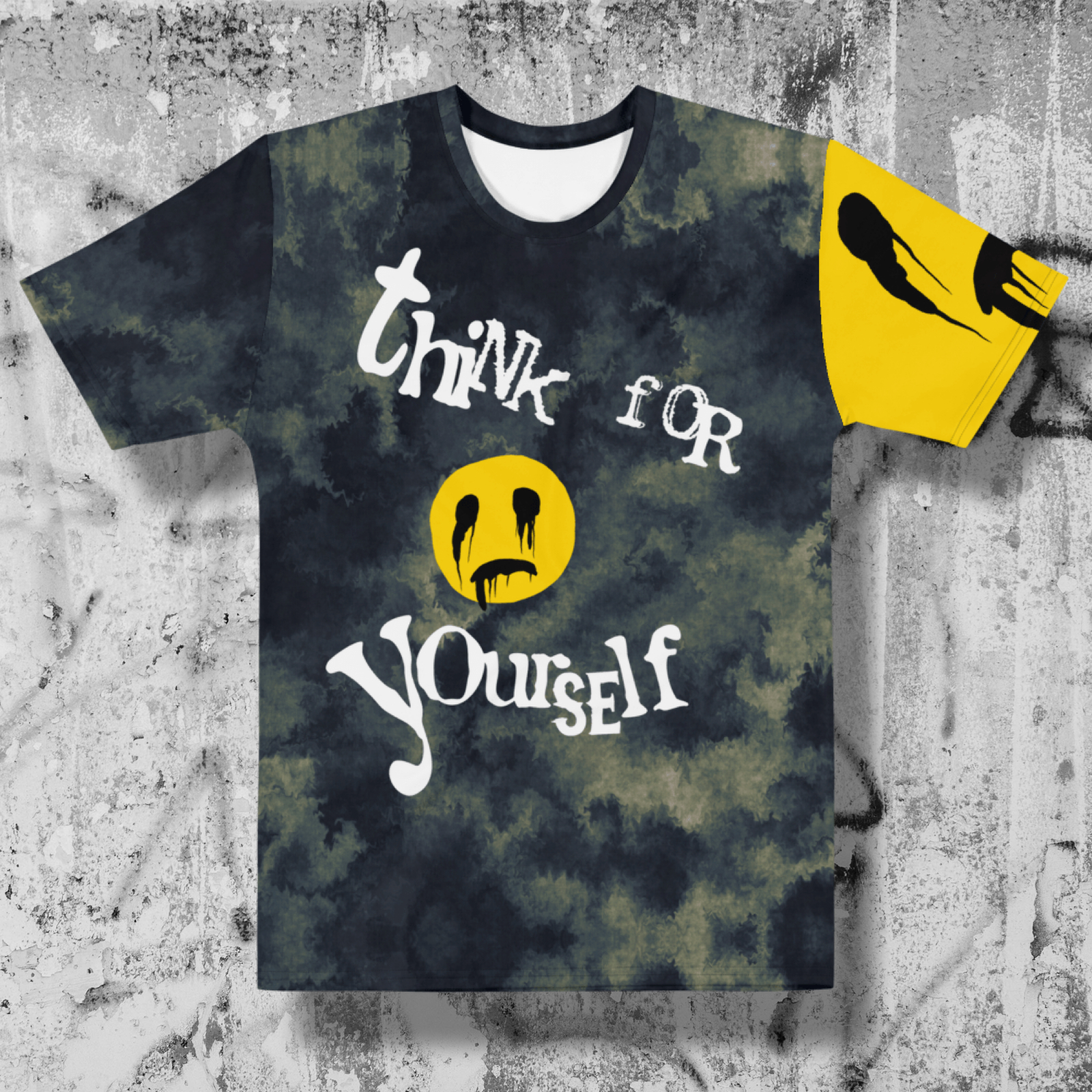 """Featured image for """"Think for Yourself - Smiley - All Over Men's T-shirt"""""""
