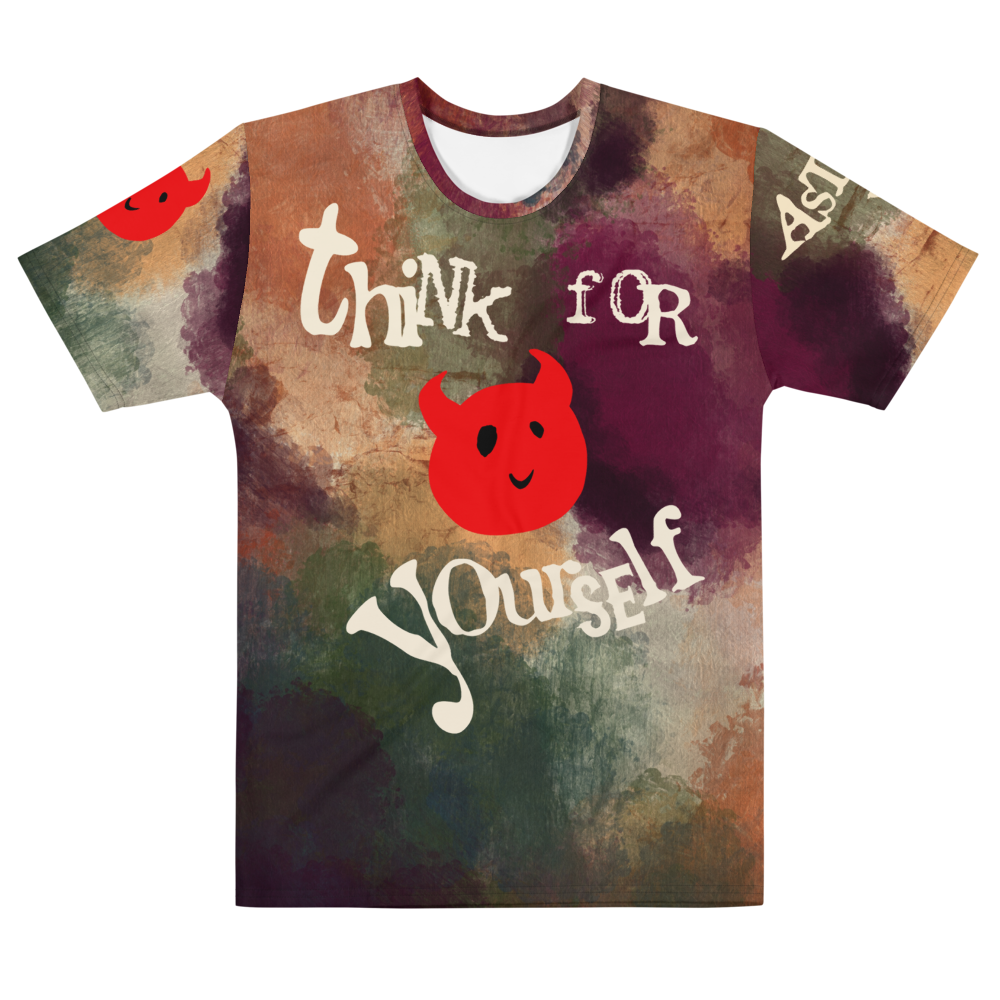 """Featured image for """"Think for Yourself- Spring - All Over - Men's T-shirt"""""""