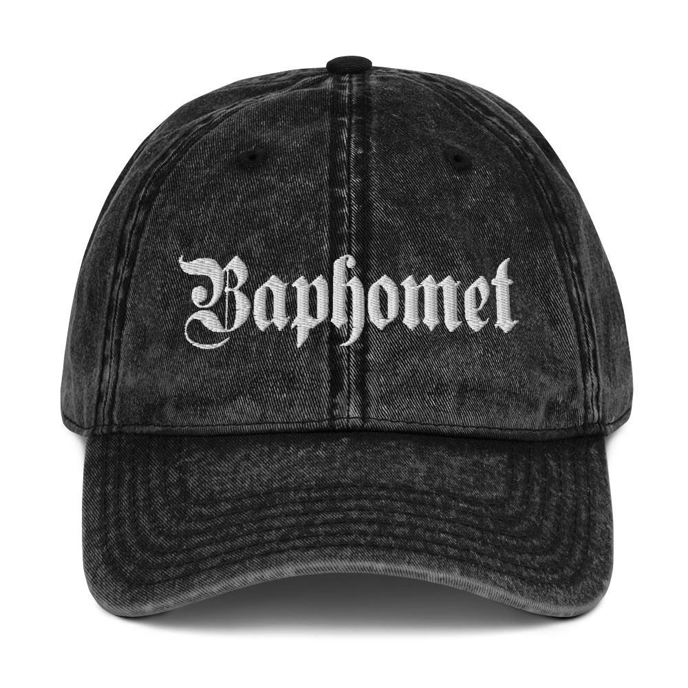 """Featured image for """"Baphomet Gothic - Vintage Cotton Twill Dad Cap"""""""