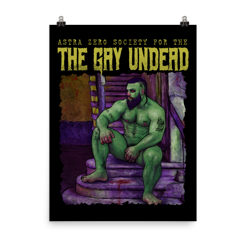 """Featured image for """"The Gay Undead - Poster"""""""