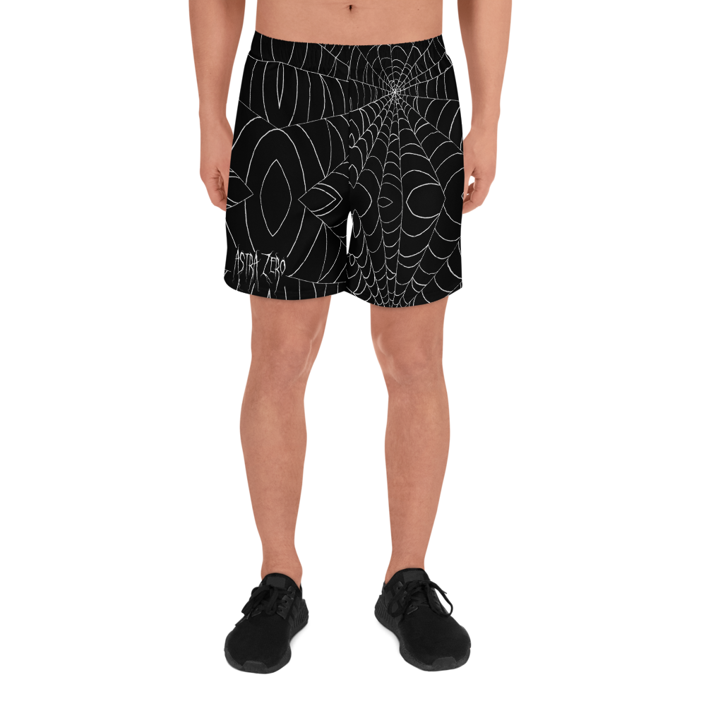 """Featured image for """"Black Web - Men's Athletic Long Shorts"""""""