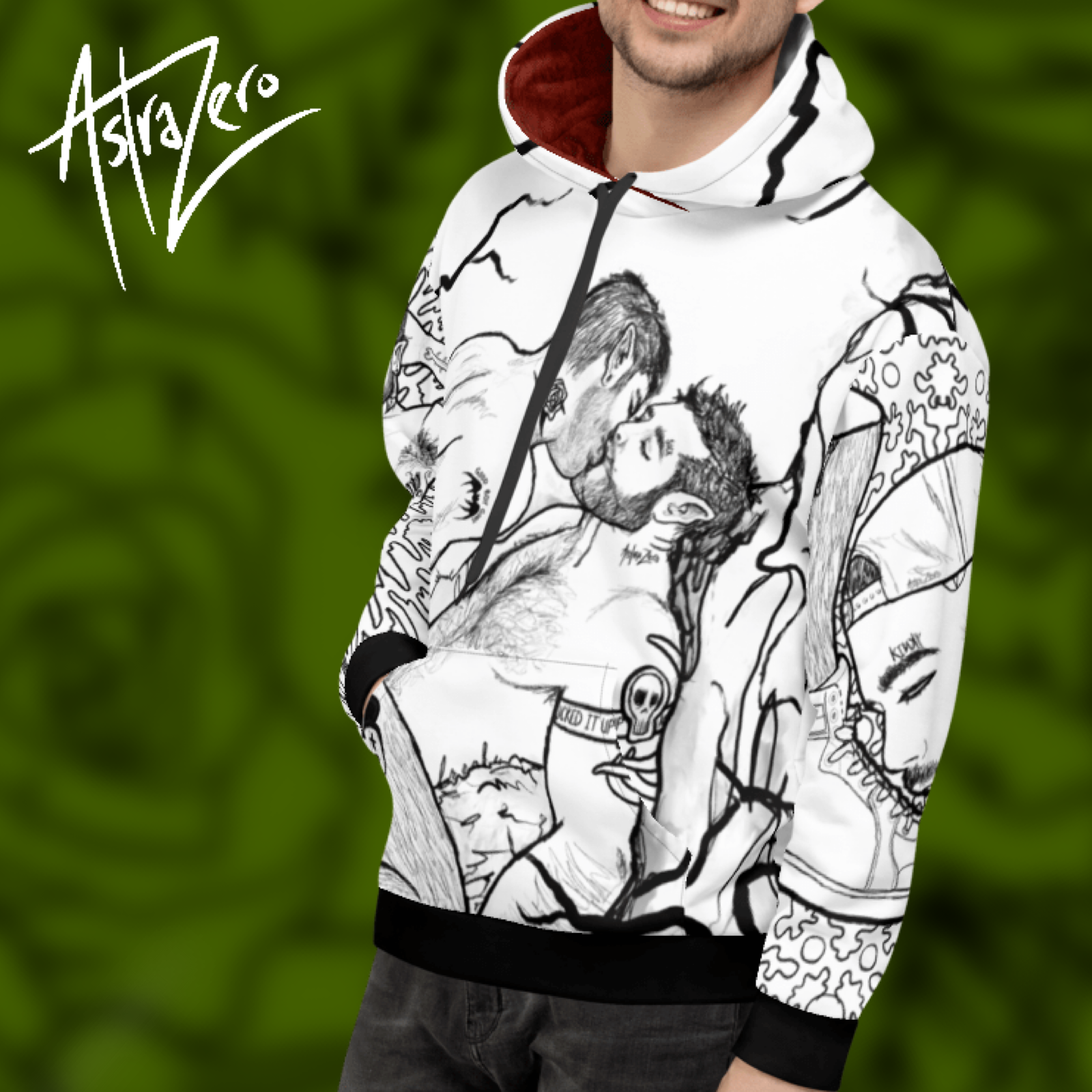 """Featured image for """"Messy Gay Black & White - Unisex Hoodie"""""""