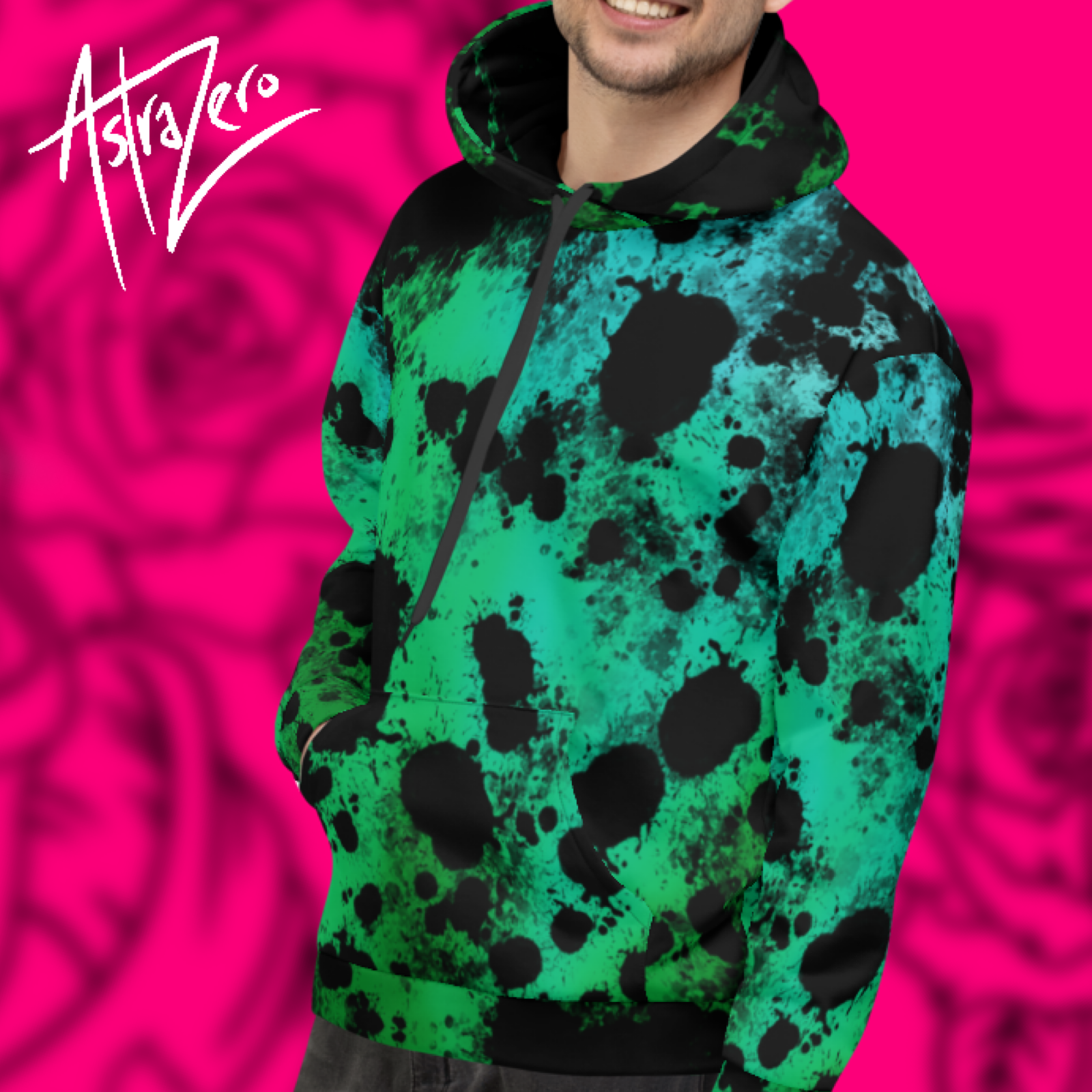 """Featured image for """"Green Splatter - Unisex Hoodie"""""""
