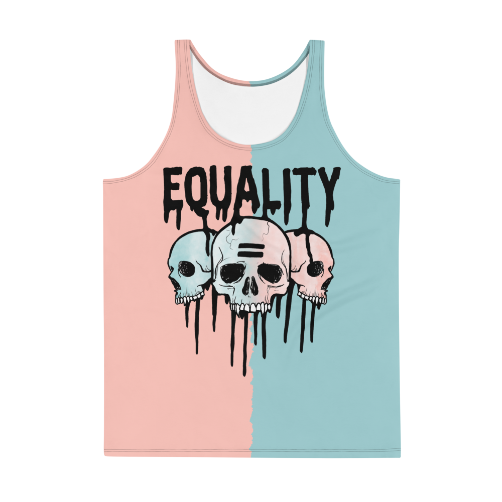 """Featured image for """"Equality Skulls (Pastel) - Unisex Tank Top"""""""