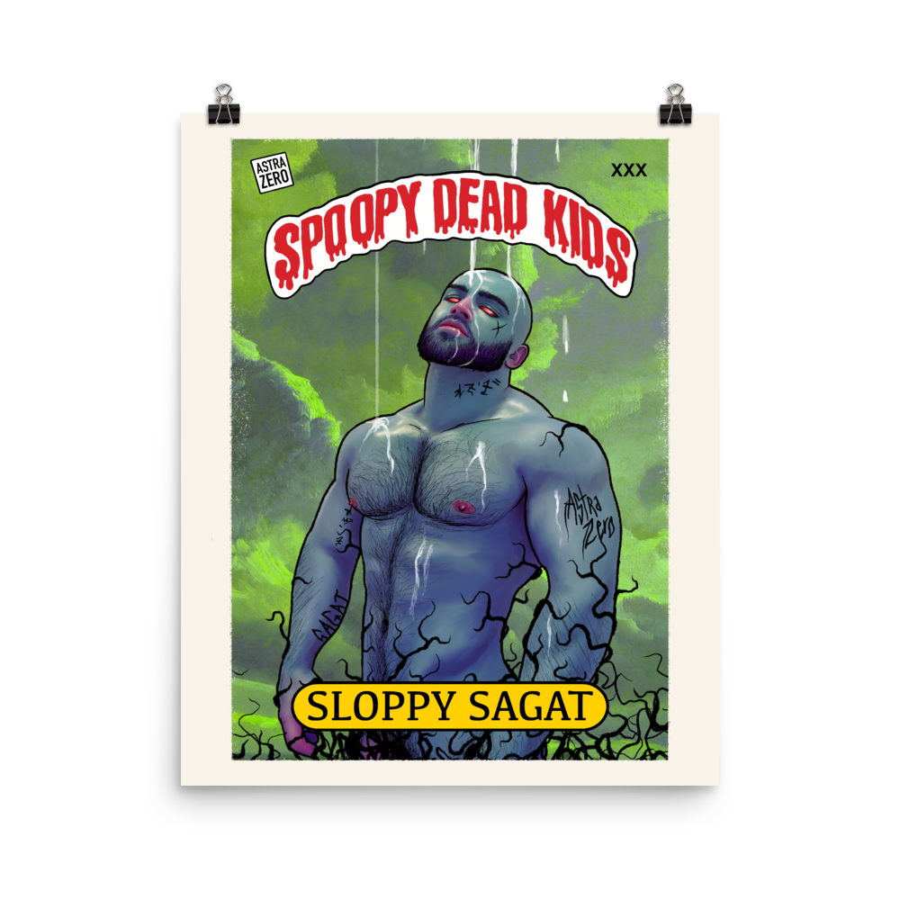 """Featured image for """"Spoopy Dead Kids ( Sloppy Sagat )  Poster"""""""