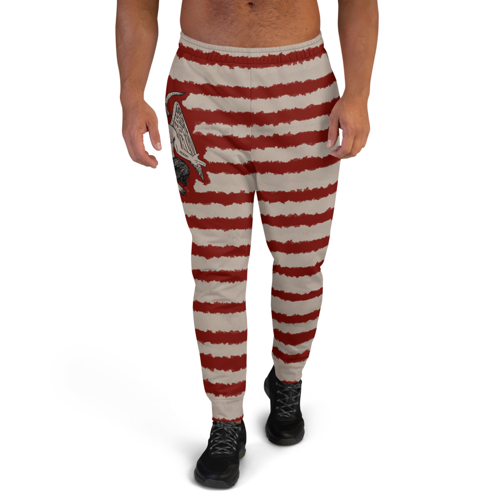 """Featured image for """"Blood Stripe Baphomet - Men's Joggers"""""""