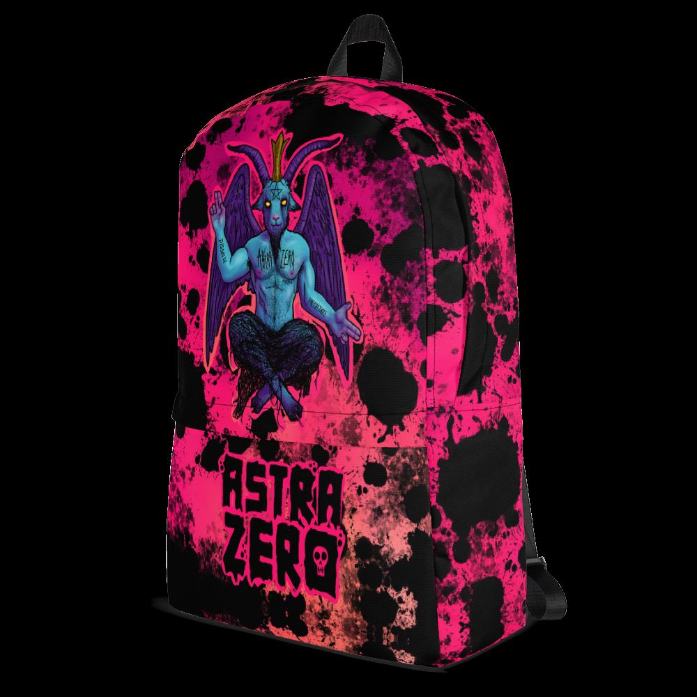 """Featured image for """"Baphomet Splatter - Backpack"""""""
