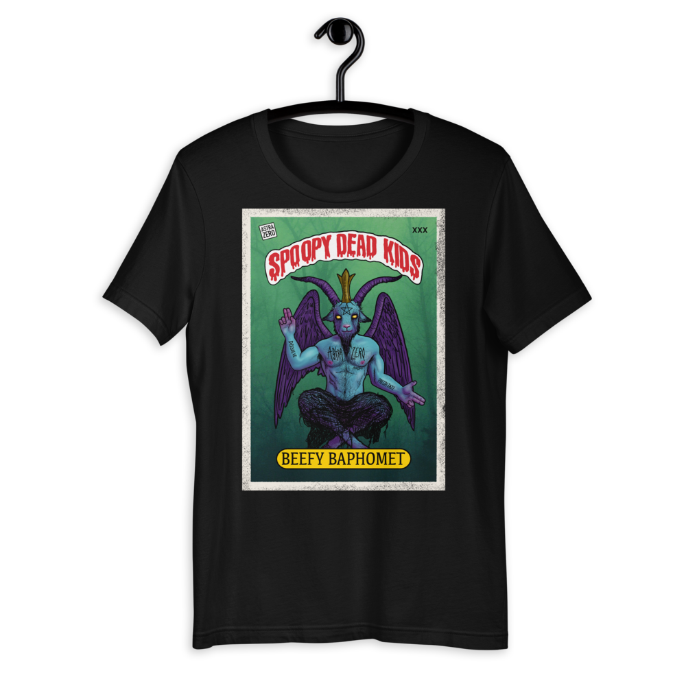 """Featured image for """"Spoopy Dead Kids ( Beefy Baphomet ) Short-Sleeve Unisex T-Shirt"""""""