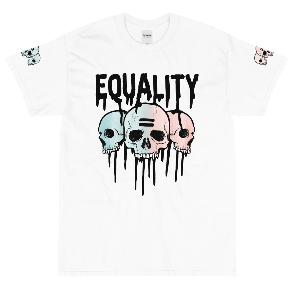 """Featured image for """"Equality Skulls ( 4XL - 5XL Only ) Short Sleeve T-Shirt"""""""