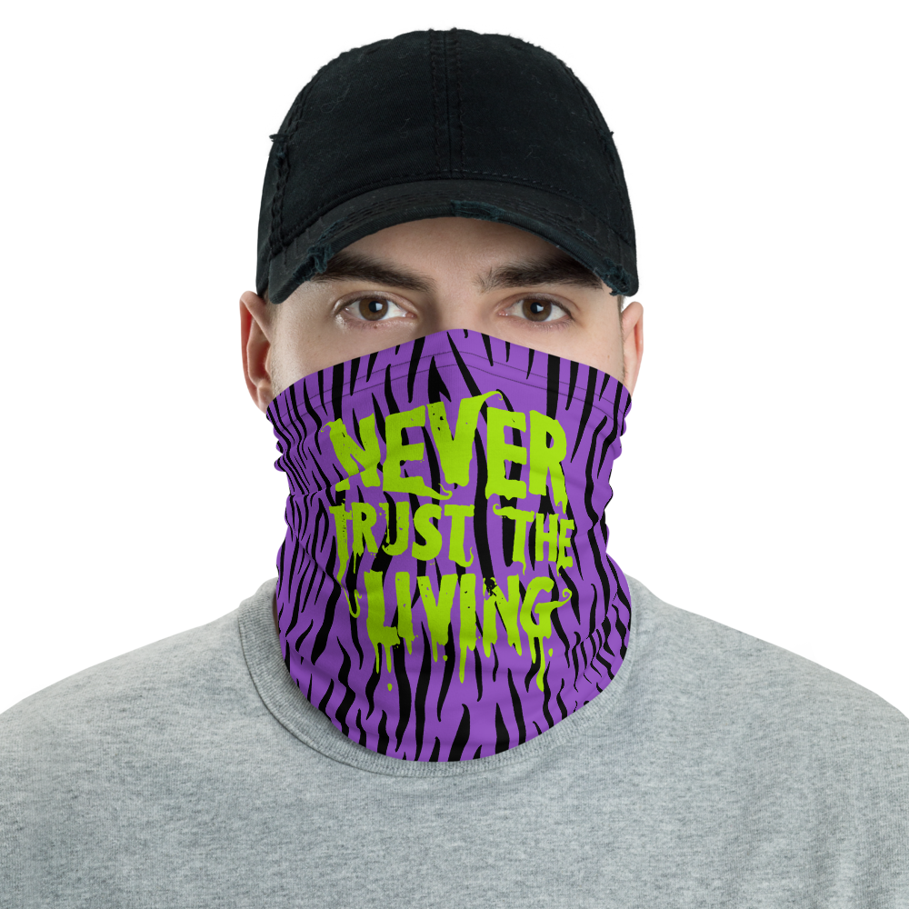 """Featured image for """"Never Trust the Living - purple - Neck gaiter"""""""