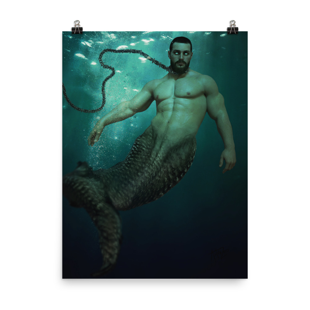 """Featured image for """"Chained Merman - Poster"""""""