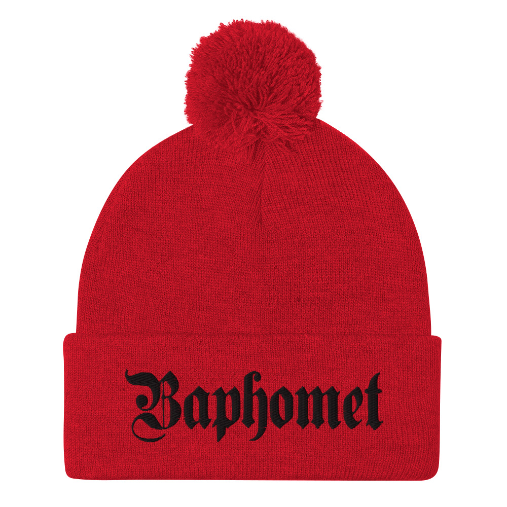 """Featured image for """"Baphomet - Pom-Pom Beanie"""""""