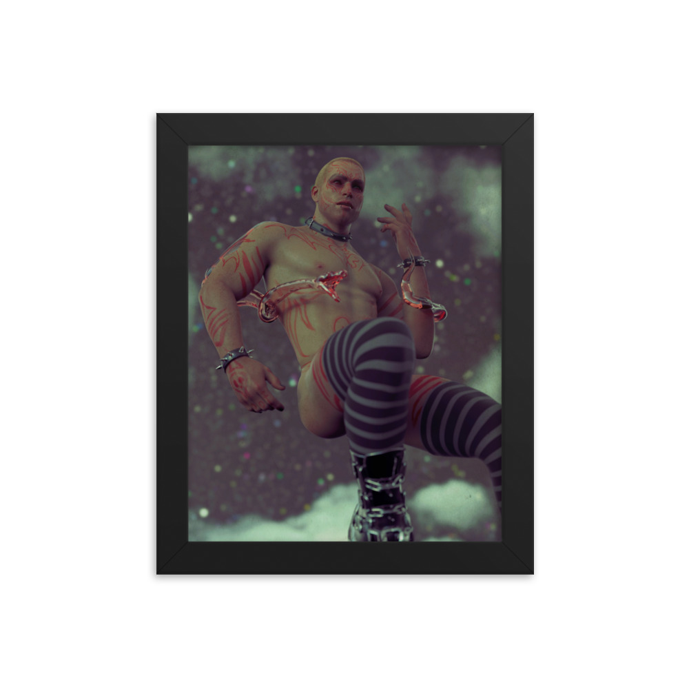 """Featured image for """"Up in the stars – Framed poster print"""""""