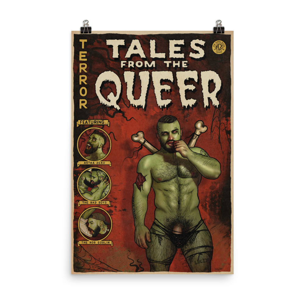 """Featured image for """"Tales from the Queer - grunge style - Poster Print"""""""
