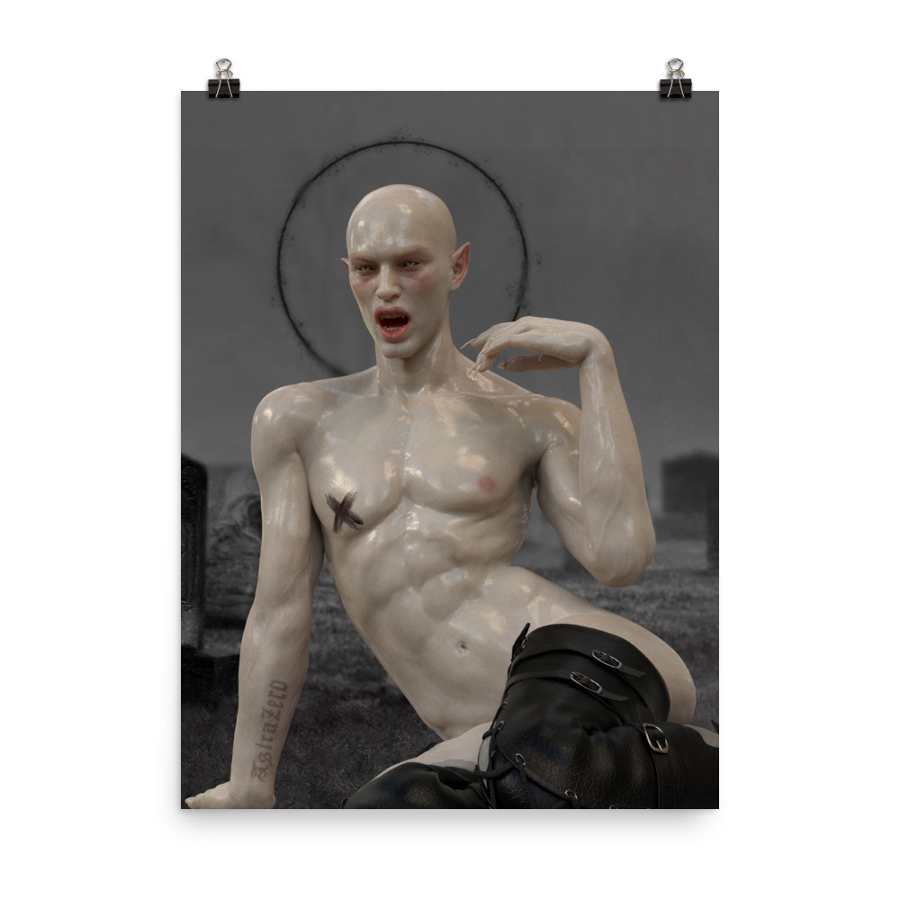 """Featured image for """"Pale Queer Vampire - Poster Print"""""""