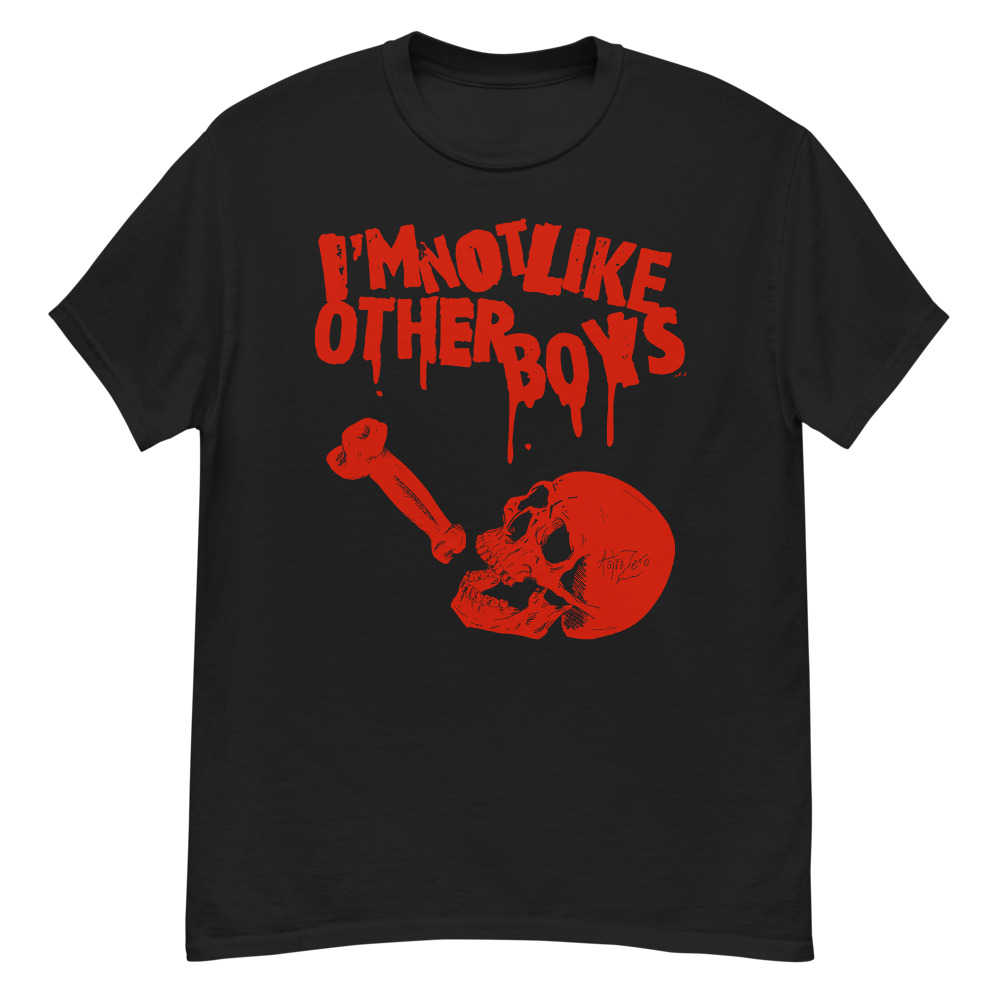 """Featured image for """"I'm Not Like Other Boys - Blood Red - Men's Heavyweight Tee   Gildan 5000"""""""