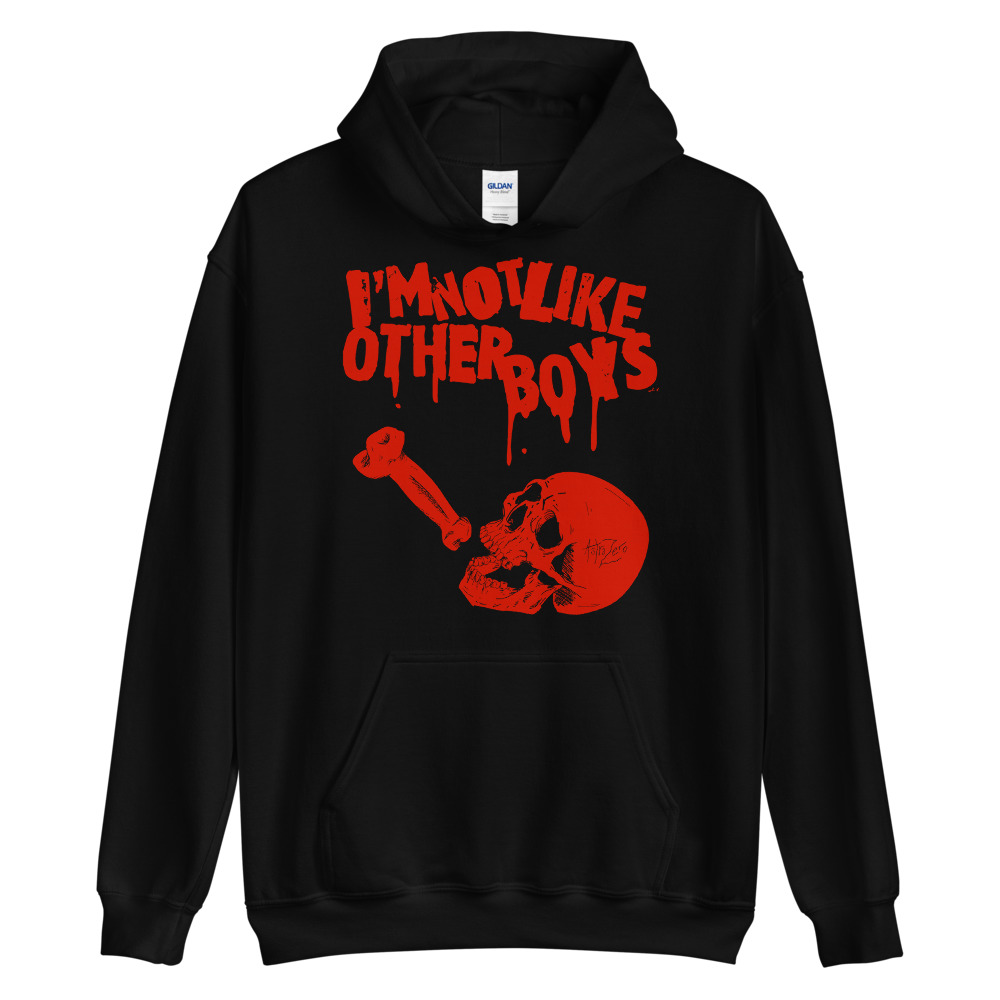 """Featured image for """"I'm Not Like Other Boys - Blood - Unisex Hoodie"""""""