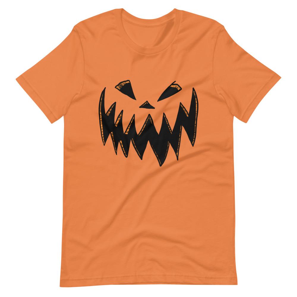 "Featured image for ""Spooky Pumpkin Face - Short-Sleeve Unisex T-Shirt"""